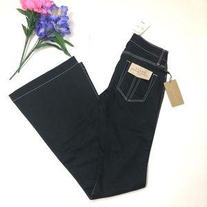 Burberry Brit Dark Wash Flare Jeans Size 26 W